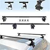 HTTMT Adjustable Complete Roof Rack System With Lock Universal Fit For Vehicles Without Roof Side Rail