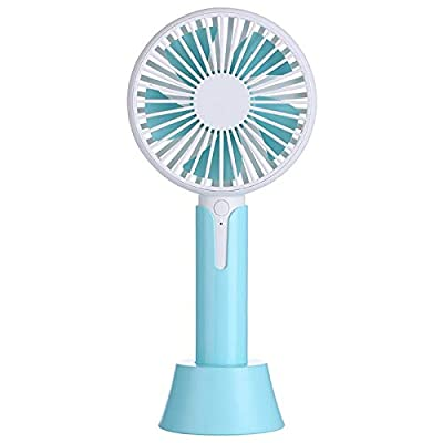 DeemoShop 3 Files Mini USB Hand Fan Cooling for Home Outdoor Portable Fan Air Conditioner Cooler Fans with 1200MA Rechargeable Battery