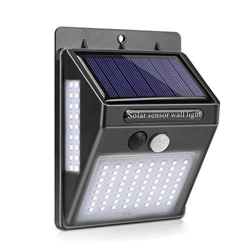 ZHUANYIYI Iluminación Exterior 100 LED Lámpara De Pared Solar LED Al Aire Libre LED con Sensor De Movimiento PIR Luz Exterior De La Pared (Color : 1 Paquete)