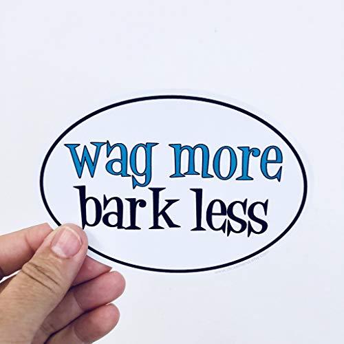 Lplpol Wag More, Bark Less Vinyl Sticker Graffiti Bumper Stickers for Teens, Girls, Women Vinyl Stickers 6 inches