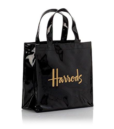 harrods Small Logo Shopper Bag - Borsa a mano in PVC con fodera in poliestere - chiusura borsa con bottone magnetico tasca interna con zip e taschino porta cellulare ID 1384863