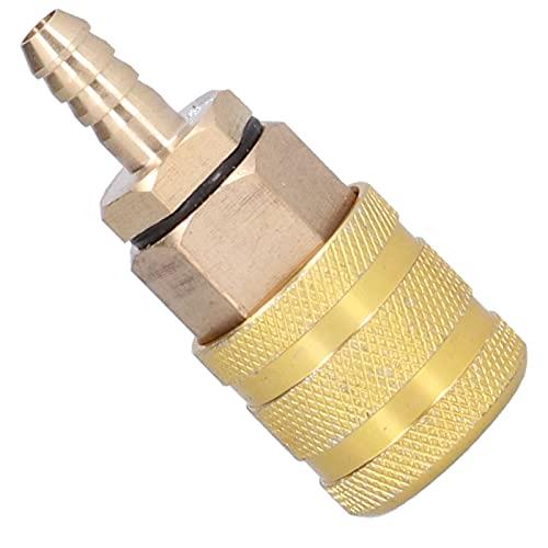 Eosnow Mandril para Llantas, Material de Cobre Adaptador para inflar Llantas Fuerte y Duradero para medir la presión de inflado
