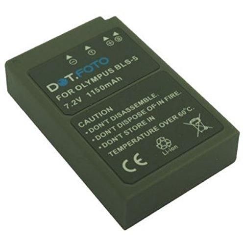 2 x Olympus BLS-5, BLS-50 PREMIUM Dot.Foto Batería de Reemplazo - 7.2V/1150mAh - Garantía de 2 años