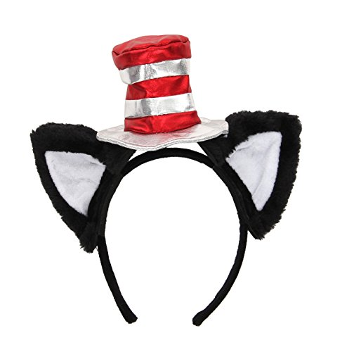 elope Dr. Seuss Cat in The Hat Costume Ears Headband & Hat