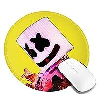 マウスパッド Marshmello マシュメロ 個性的 おしゃれ 円形 デスクマット 防水 洗える 耐久性 滑り止めゴム底 光学式マウス対応 女性 子供 可愛い 高級感 オフィス自宅兼用