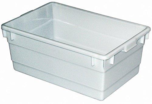 Kunststoffwanne, 80 Liter, LxBxH 750 x 490 x 310 mm, lebensmittelecht, weiß