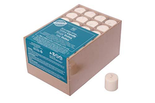 Hosley's Set of 72 Unscented Ivory Votive Candles