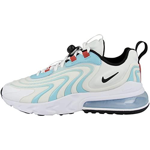 Nike Zapatillas de correr Air Max 270 React Eng para hombre, White Black Bleached Aqua Chile Red Speed Yellow, 41 EU