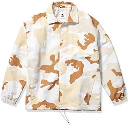 adidas Originals Men's Camo Coaches Jacket, multi/clear brown, Medium