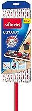 Vileda Ultramax Power 155743 2-in-1 Metal/Black Red Micro-Fibre Flat Mop Cleaning System (14 x 35 x 150cm)