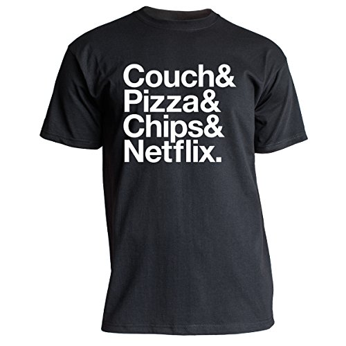 Nukular T-Shirt Couch Pizza Chips Netflix, Farbe schwarz, Größe XXXL