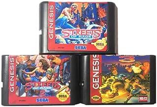 Royal Retro Streets Of Rage 3in1 Pour Sega Genesis Mega Drive Cartouche De Jeu 16 Bits Pour PAL Et NTSC (Noir)