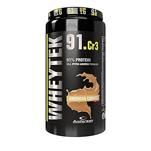 ANDERSON WHEY TEK 91 INTEGRATORE DI PROTEINE ISO PROTEIN (800g, COOKIES)