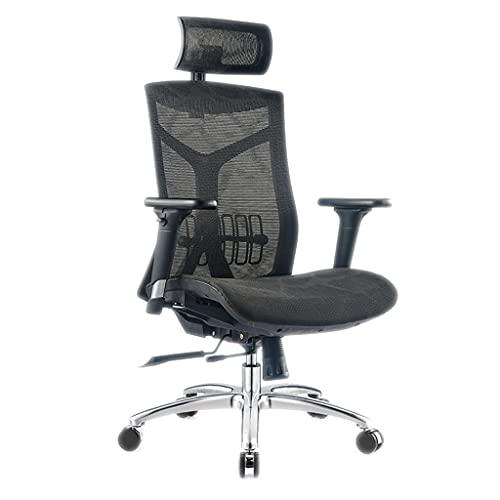 Silla ergonómica de oficina Silla de la computadora de la silla ergonómica de la oficina, hogar cómodo sedentario cintura asiento silla de juego silla de oficina silla giratoria silla de elevación Sil