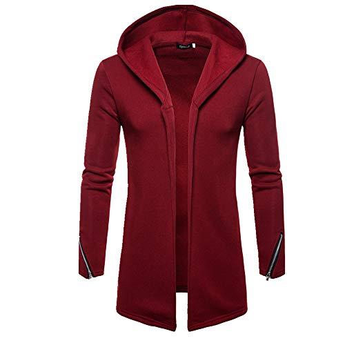 Sudadera para hombre otoño e invierno, chaqueta de punto con capucha para hombre