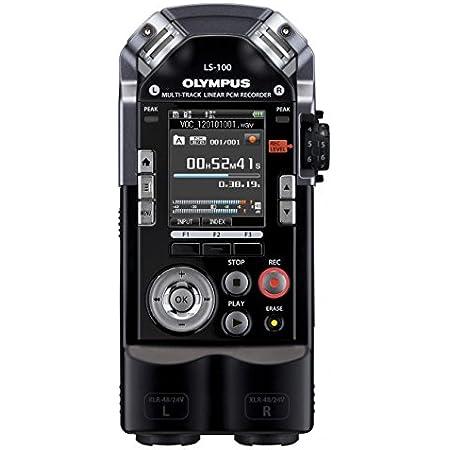 OLYMPUS マルチトラックリニアPCMレコーダー LS-100 ブラック 4GB SDカードスロット 最大耐音圧140dBspl XLRコネクタ搭載 マルチトラック録音対応 LS-100