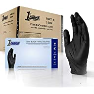 1st Choice Black Nitrile 4 Mil Thick Disposable Gloves Large Case of 1000   Exam Medical Latex...