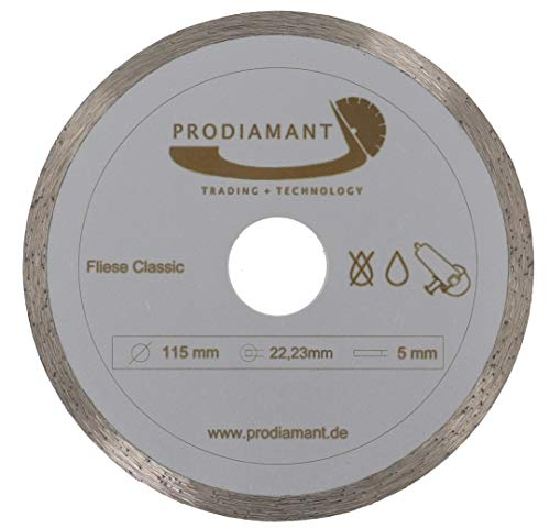 PRODIAMANT Disco diamantato 115 mm x 22,2 mm Disco diamantato 115mm
