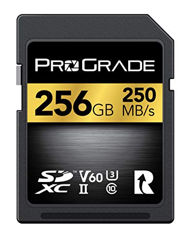 SD Card V60 (256GB) -Up to 130MB/s Write Speed and 250MB/s Read Speed | for Professional Vloggers, Filmmakers, Photographers & Content Curators - Update Firmware Included - by ProGrade Digital