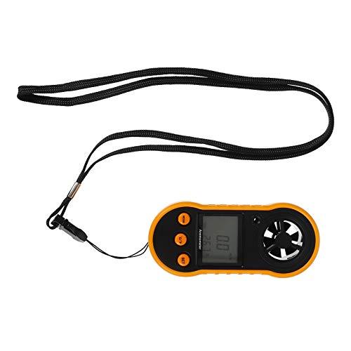BESPORTBLE Backlight LCD Digital Vento Anemômetro Digital Portátil Medidor de Medição da Velocidade Do Fluxo de Ar Medidor de Peso Leve para a Meteorologia Windsurf Kitesurf