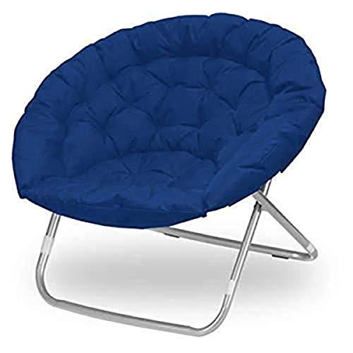Urban Shop Oversized Polycanvas Saucer Chair, Navy