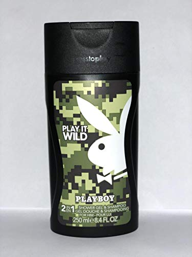 Playboy Play It Wild men Shower Gel, 1er Pack (1 x 250 ml)