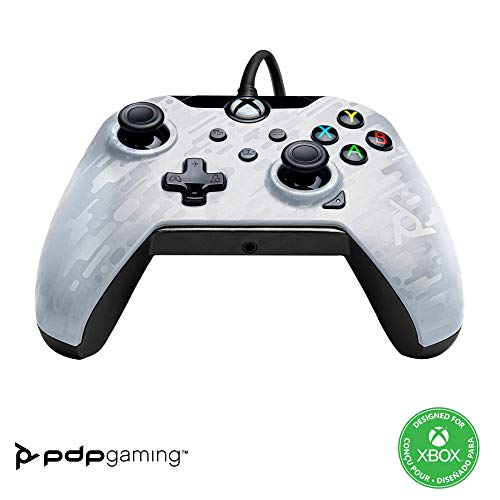 PDP Controller con Cavo Xbox Series X│S, Bianco (Ghost White)