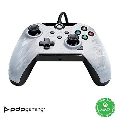 PDP Manette Filaire pour Xbox Series XIS Camo Blanc