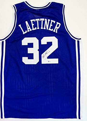 Christian Laettner Autographed Jersey - College Style The Shot Beckett Auth - Beckett Authentication