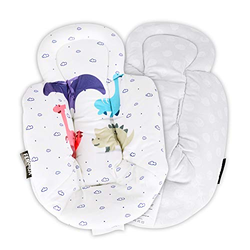 New Reversible Newborn Baby Infant Insert with Head and Body Support - Suitable for mamaRoo & rockaRoo Swing