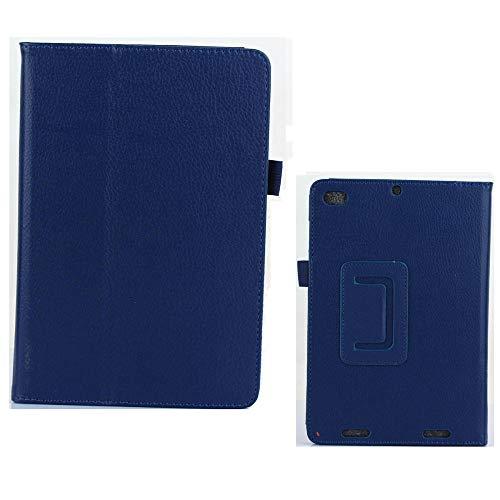 Litchi Folio Stand Funda de Piel de Cuero PU para Xiaomi Mipad 2 3 Mi Pad 2 3Gen 7.9 Tablet PC Soporte magnético Inteligente-Azul Marino
