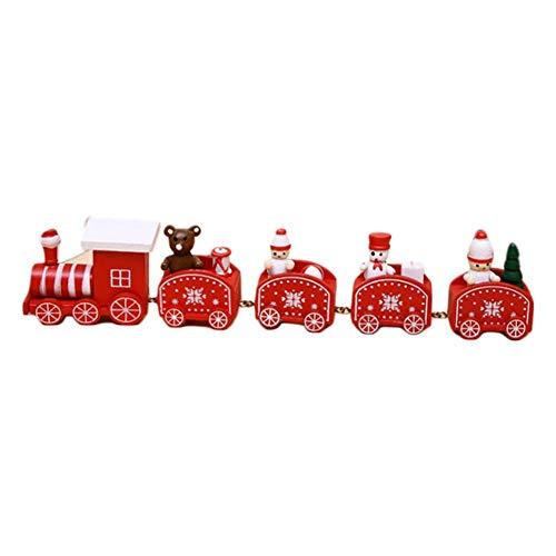 Houten kersttrein, Kerstmis trein creatief delicaat feestelijk speelgoed decoratie cadeau, kinderen auto speelgoed party spelen decoraties rekwisieten