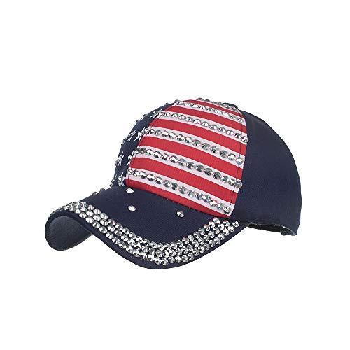 Gorras Beisbol Deportes Unisex Adjustable al Aire Libre Cap,bandera estrella de cinco puntas impresa taladro eléctrico gorra de béisbol deportes de ocio al aire libre sombrero para el sol, A