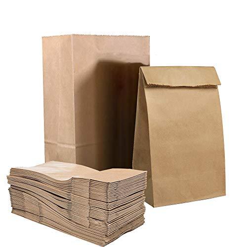 50 X Papiersackerl Braun, Verdicken Brottüten Süßigkeiten Geschenktüten Papiertüte Klein Kinderparty Weihnachten Papiertaschen Geburtstage Mittagessen Brottasche 4 lb