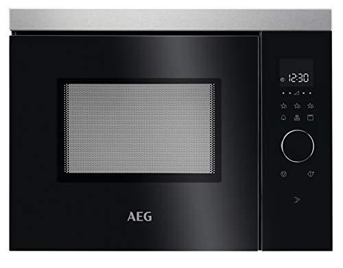 AEG MBB1755DEM Four à micro-ondes encastrable 50 cm/commande tactile/fonction grill/écran avec horloge