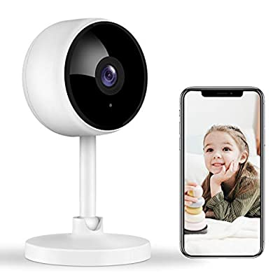 Home Security Camera, Littlelf 1080P FHD Indoor WiFi Wireless Camera with 2-Way Audio, Night Vision, Motion Detection for Pet/Elder/Baby Monitor, Cloud Storage and MicroSD Support (Not Included)