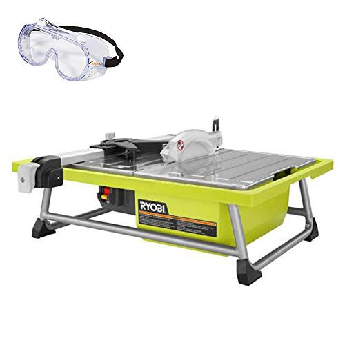 Ryobi 7 in. 4.8 Amp Tabletop Tile Saw WS722 and Toucan City Safety Glasses