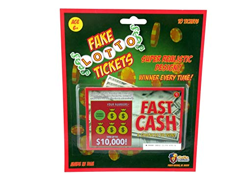 Jereco Global Phony Fake Lotto Tickets Set of 10 Super Realistic Scratch Off Lottery Ticket Joke...