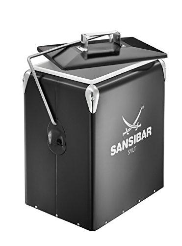 RÖSLE Kühlbox Retro Sansibar, ABS Stahl, schwarz, 43,5 x 34,5 x 23,5 cm, ca. 15 l