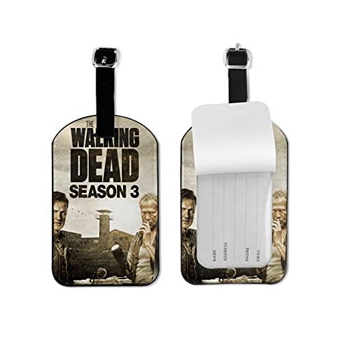 The Wa-lking Dead - Etiquetas para equipaje de maleta, etiquetas para tarjetas de visita, bolsa de identificación de viaje