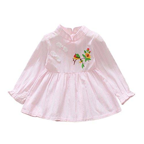 Vestido de la elegancia del vestido del estilo chino de la niña Qipao bordado