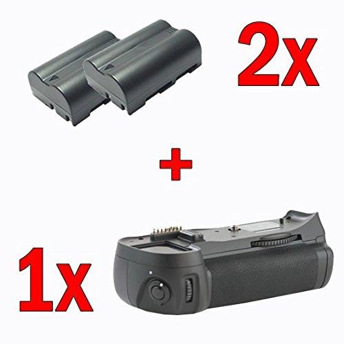 Impulsfoto Meike Profi Batteriegriff Fuer Nikon D300, D300s, D700 - ersetzt MB-D10 + 2X EN-EL3e Nachbau-Akkus