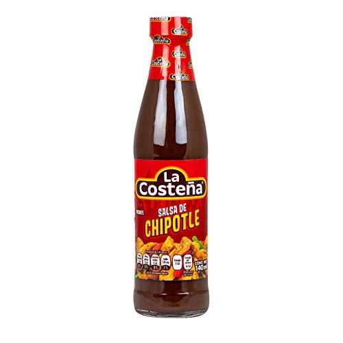 La Costena Salsa Chipotle | 140ml | Mexikanische Küche | unwiderstehliche Würzsauce | pikantes & rauchiges Aroma | Zum Verfeinern von Dips & Saucen | Hervorragender Geschmack