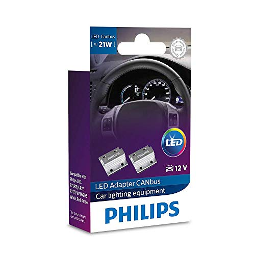 PHILIPS LED CANBUS 21W 12V warning canceller RESISTOR warning canceller LED car lamp 18957X2 Set of 2 …