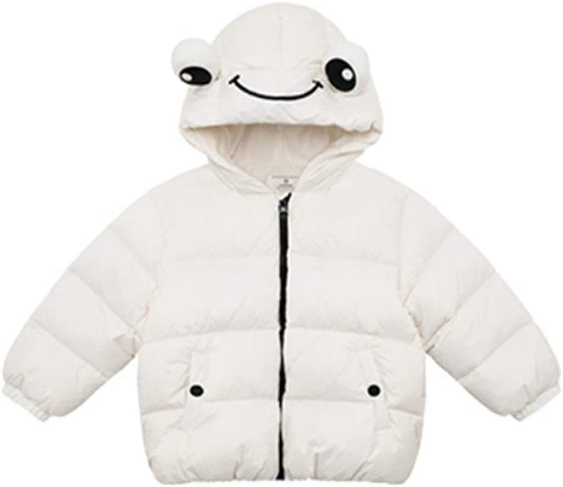 Kids Down Jacket Children Hooded Down Coat Girls Puffer Jacket Boys Winter Cute Children's Baby Creativity Small Animal Jacket Down Coats (Color : White, Size : 80)