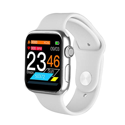 TWW Sportuhr, Sportuhr Leichtbau Design Eingebaute USB-Ladeuhr Echtzeit-Benachrichtigungsfunktion Smartwatch,Weiß