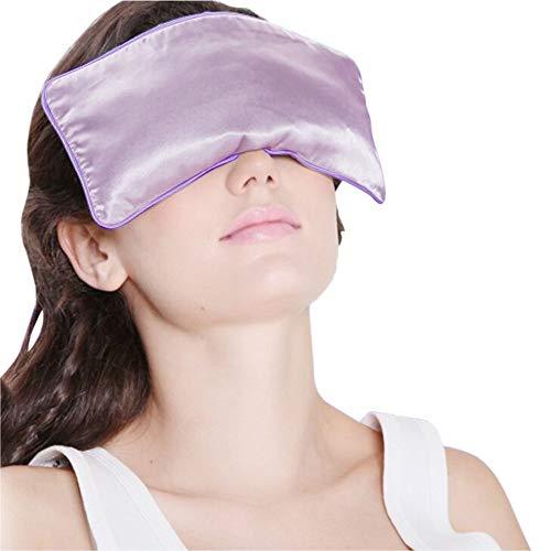 Yoga Eyepillows Seda Pura Lleno de Semillas de Lino y Lavanda Bolsas de los Ojos para el...
