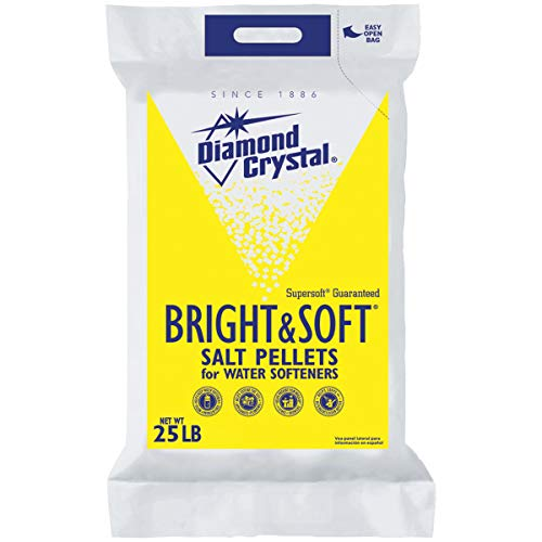Diamond Crystal Bright (Four Pack) and Soft Water Softener Salt Pellets 25 Pound Bag