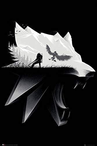 GB eye Thw Witcher Poster, Unlaminierten, Schwarz/Weiß, 91x61cm
