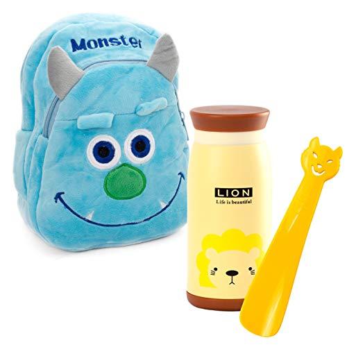 Lantelme 5991zaino per bambini Monster-Contenitore per il pranzo e borraccia in Set per bambino giardino-asili e in viaggio